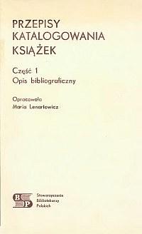 Okładka Przepisy katalogowania książek