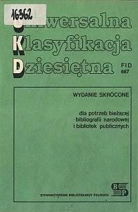 Okładka Uniwersalna Klasyfikacja Dziesiętna FID 667