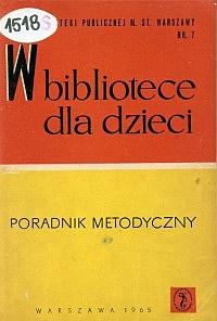 Okładka W bibliotece dla dzieci