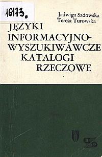 Okładka Języki informacyjno-wyszukiwawcze