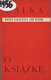 Okładka Walka o książkę