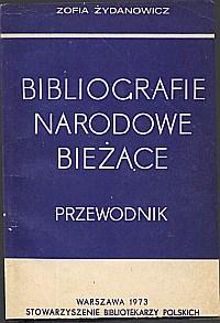 Okładka Bibliografie narodowe bieżące