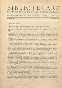 Okładka Bibliotekarz 1945, nr 1