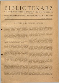 Okładka Bibliotekarz 1945, nr 2-3