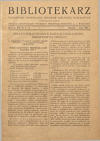 Okładka Bibliotekarz 1946, nr 1-2