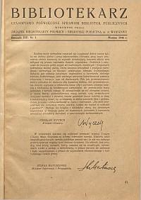Okładka Bibliotekarz 1946, nr 3