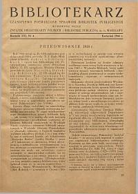 Okładka Bibliotekarz 1946, nr 4