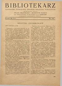Okładka Bibliotekarz 1946, nr 5