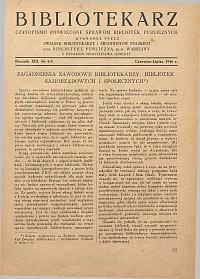 Okładka Bibliotekarz 1946, nr 6-7