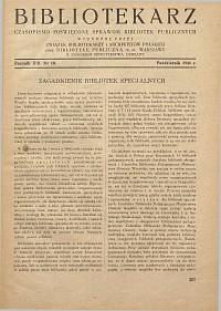 Okładka Bibliotekarz 1946, nr 10