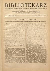 Okładka Bibliotekarz 1946, nr 11-12
