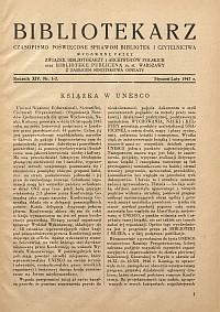 Okładka Bibliotekarz 1947, nr 1-2