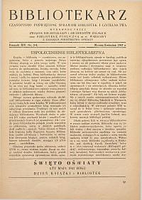 Okładka Bibliotekarz 1947, nr 3-4