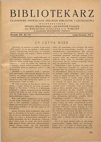 Bibliotekarz 1947, nr 7-8