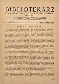 Okładka Bibliotekarz 1947, nr 9-10