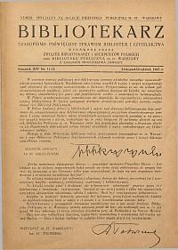 Okładka Bibliotekarz 1947, nr 11-12