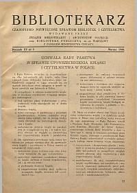 Okładka Bibliotekarz 1948, nr 3