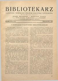 Okładka Bibliotekarz 1948, nr 4-5