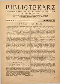 Okładka Bibliotekarz 1948, nr 6-7