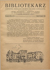 Okładka Bibliotekarz 1948, nr 8-9