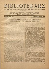 Okładka Bibliotekarz 1948, nr 10-11