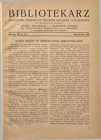 Okładka Bibliotekarz 1949, nr 1-2