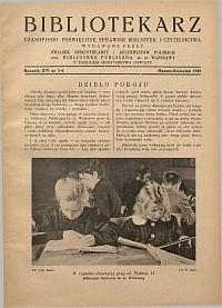 Okładka Bibliotekarz 1949, nr 3-4