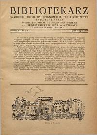 Okładka Bibliotekarz 1949, nr 7-8