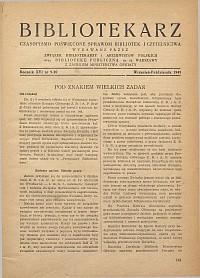 Okładka Bibliotekarz 1949, nr 9-10