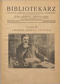 Okładka Bibliotekarz 1949, nr 11-12