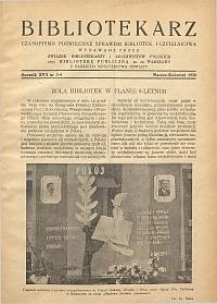 Okładka Bibliotekarz 1950, nr 3-4