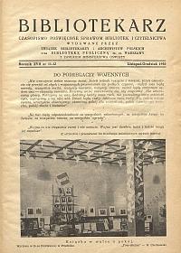 Okładka Bibliotekarz 1950, nr 11-12
