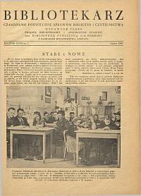 Okładka Bibliotekarz 1951, nr 7