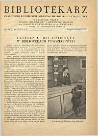Okładka Bibliotekarz 1951, nr 8-9