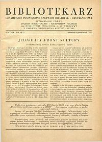 Okładka Bibliotekarz 1952, nr 5