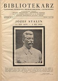 Okładka Bibliotekarz 1953, nr 1