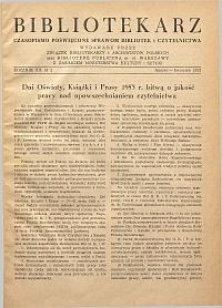 Okładka Bibliotekarz 1953, nr 2
