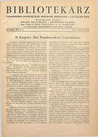 Okładka Bibliotekarz 1953, nr 3