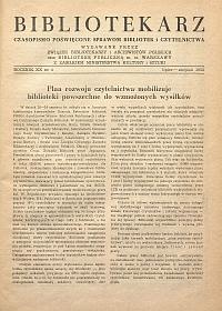 Okładka Bibliotekarz 1953, nr 4
