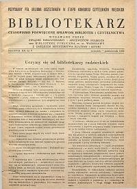 Okładka Bibliotekarz 1953, nr 5