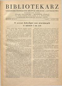 Okładka Bibliotekarz 1953, nr 6