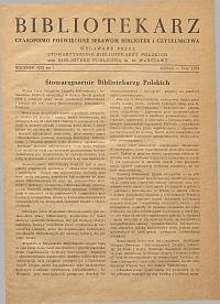 Okładka Bibliotekarz 1954, nr 1
