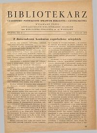 Okładka Bibliotekarz 1954, nr 2