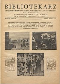 Okładka Bibliotekarz 1954, nr 6