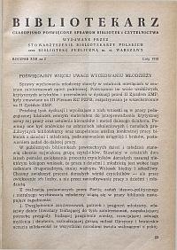 Okładka Bibliotekarz 1955, nr 2