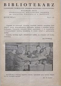 Okładka Bibliotekarz 1955, nr 3
