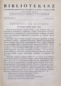 Okładka Bibliotekarz 1955, nr 4