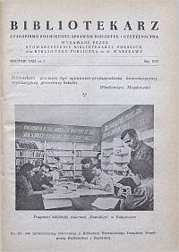 Okładka Bibliotekarz 1955, nr 5