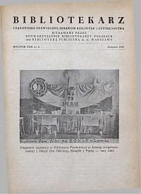 Okładka Bibliotekarz 1955, nr 8