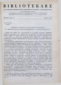 Okładka Bibliotekarz 1955, nr 9